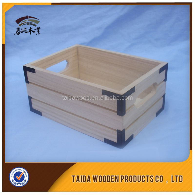 China Saupplier wood Crates For Fruits/ Vegetables