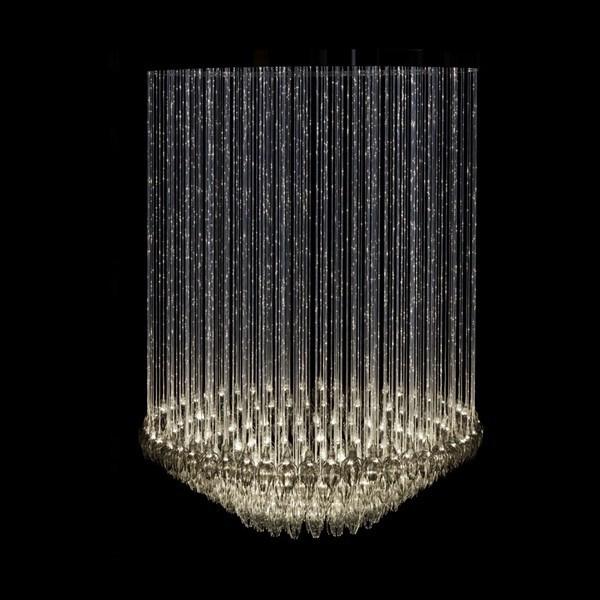2015 New Led Chandelier LightingGlass And Crystal Pendant