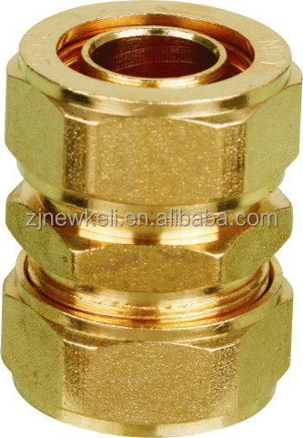 brass fitting for aluminum composite plastic pipe/PEX pipe fitting/brass coupling