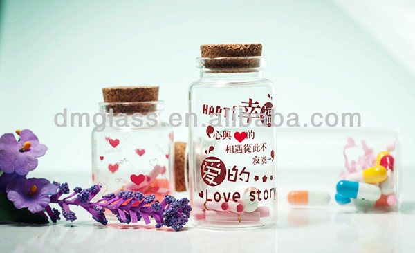 glass perfume bottle for decoration
