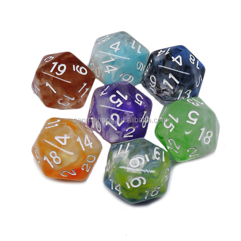 Factory Two-tone Nebula D4 D6 D8 D10 <strong>D12</strong> D20 Dice Set for DND RPG Game