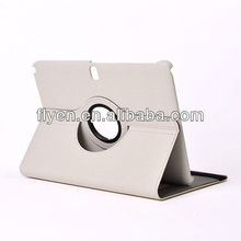 WHITE PU Leather Oblique fabric Case Cover 360 degree W/ Rotating Stand For Samsung Galaxy NOTE 10.1 N8013
