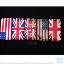 American Flag Pattern Shinning Hard PC case for SAMSUNG Galaxy Note II / N7100 /T889/ I605 P-SAMN7100HC008