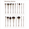 Marbling series brushes with water transfer , personalized makeup brushes, cutely makeup, manly makeup brushes