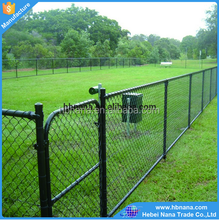 Multifunctional plastic cover chain link fence / Professional used chain link fence for sale factory with best quality