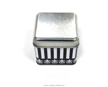 nice square tin watch box,tin packaging for watch