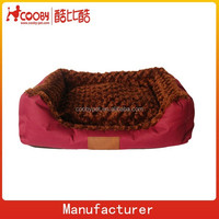 Factory Best Selling Best Quality New Soft Rose Velvet dog bed Pet Nest