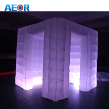 High quality inflatable photo booth kiosk indoor inflatable photobooth with LED light photo booth kiosk tent for event