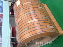 Decorative brick pattern color coated aluminium roofing coil for aluminum product