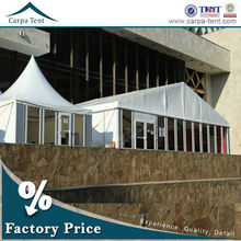 15x30m durable permanent event canopy tent easy set up with pvc roof on any grond grass dirt