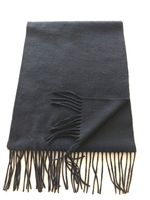 blend 50% cashmere 50% wool medium plain black scarf