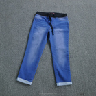 Stock lot Garments women's denim jeans wholesale from factory