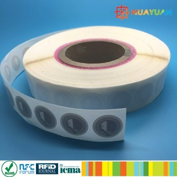 Round 38mm rewritable NTAG213 Clear NFC tag