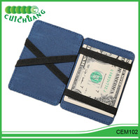 CEM102 Cuichuang Color matching scrub magic wallet pu leather
