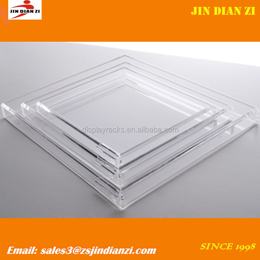 Acrylic tray, clear acrylic candy tray, acrylic brochure tray wholesale