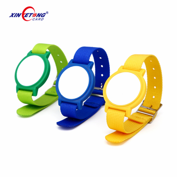 Nylon Watch Style  F08 13.56MHZ Adjustable Disposable Colorful Event Ticket RFID Wristband