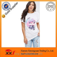 White sketch ladies t-shirt print design t-shirt size s m l xl xxl xxxl manufacturers turkey