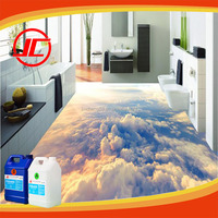 Transparent Epoxy Resin 828 UV Epoxy Resin and Harnener for 3D Flooring, Epoxy Floor Coating