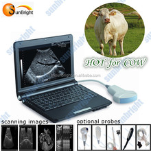Rectal Convex probe option Laptop Veterinary Ultrasound Scanner for different animal Equine, Bovine, Swine, Sheep, Cat, Dog