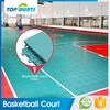 Quality guarantee waterproof sports interlock floor plastic used basketball flooring