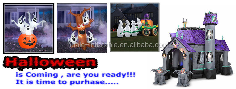 Huale halloween decoration Inflatable jumping bouncer / slide / obstacle / combo for kids