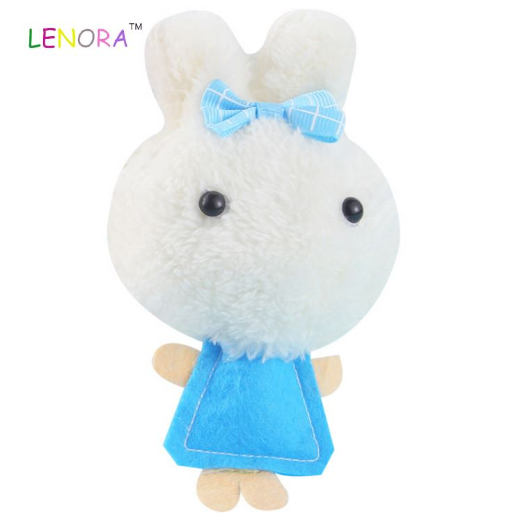 Cheap Kawaii colorful rice balls <strong>rabbit</strong> with bow cute plush toy pendant wedding promotion gift wholesale mini animal stuffed toy