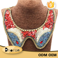 Hot sell handmade beaded statement collar necklace DHN0244