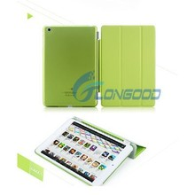 Slim Magnetic Translucent PU Leather Case with Holder & Sleep / Wake-up Function Case For iPad air IPad 5