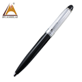 Top Quality Mont black metal ball pen with Partly hidden and partly visible silver pattern Metal custom ballpoint pen