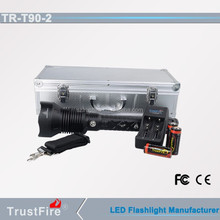 TrustFire T90-2 1280m long distance bright police flashlight, flexible torch light,luxurious flashlight