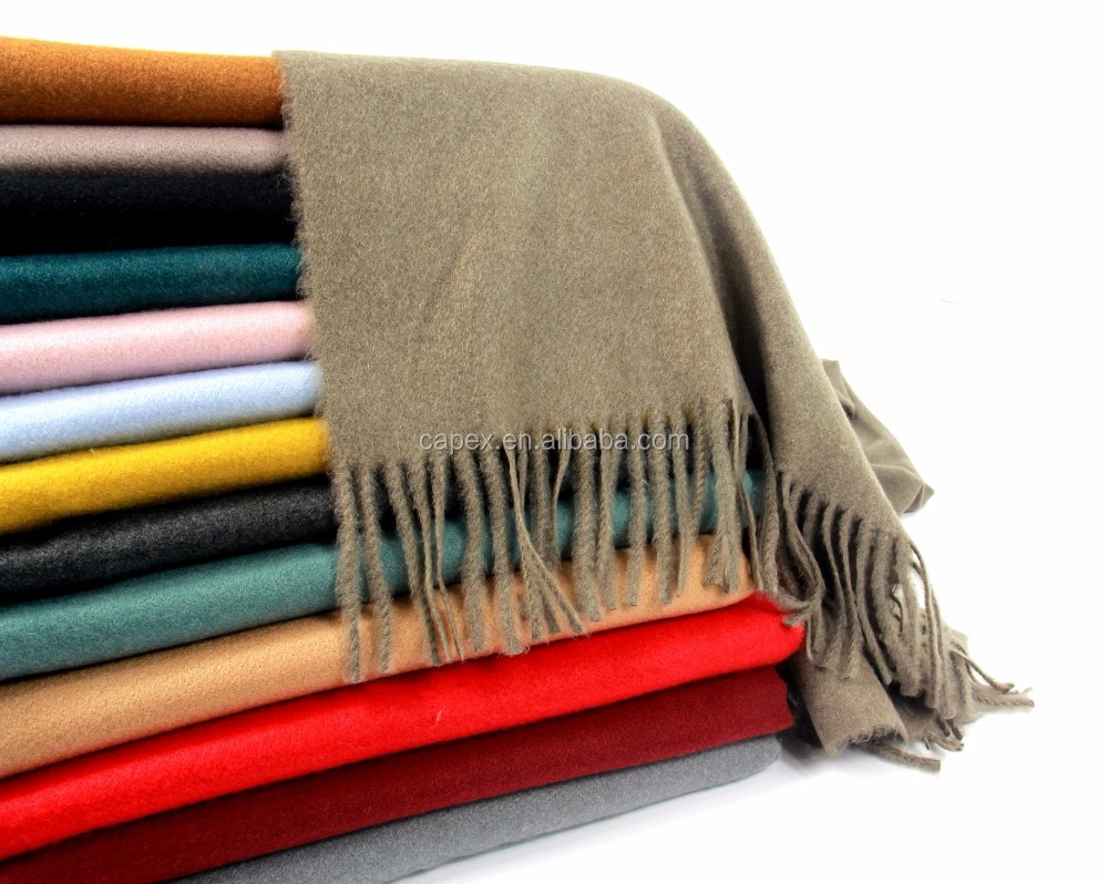 Wholesale Manufacture Men Women Solid color Cashmere like Scarf with fringe