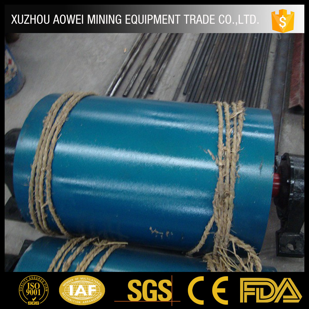 New products conveyor pulley belt moving on shaft