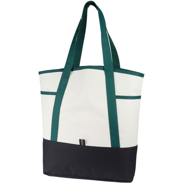 new design cotton contrast handle cloth bag with zipper