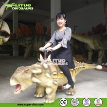 Small Animatronic Dinosaur Walking Animals Kiddie Rides