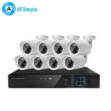 H.264 Security Camera 4ch CCTV DVR Kit Sony IMX322 CCTV System Indoor HD 1080P 4CH DVR P2P 15M Night Vision Bullet Kit Outdoor