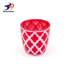 Wholesale cheap glassware amber glass votive candle holder