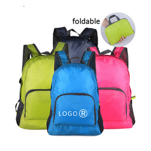 Hot sale travelling nylon foldable waterproof backpack waterproof
