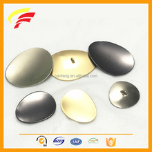 metal zinc alloy big oval egg shape sewing button for coat decoration