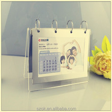 Magnet transparence acrylic calendar display for family