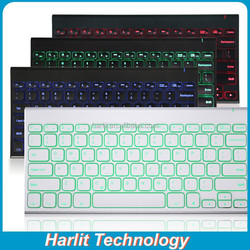 LED Backlit Tablet Bluetooth Keyboard For IOS/Android/Windows Tablet Computer Bluetooth Keyboard With LED Back Light