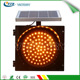Solar power LED traffic warning light, Solar LED yellow flashing light