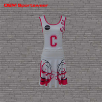 Sports bodysuit fitted tight child girls netball dress