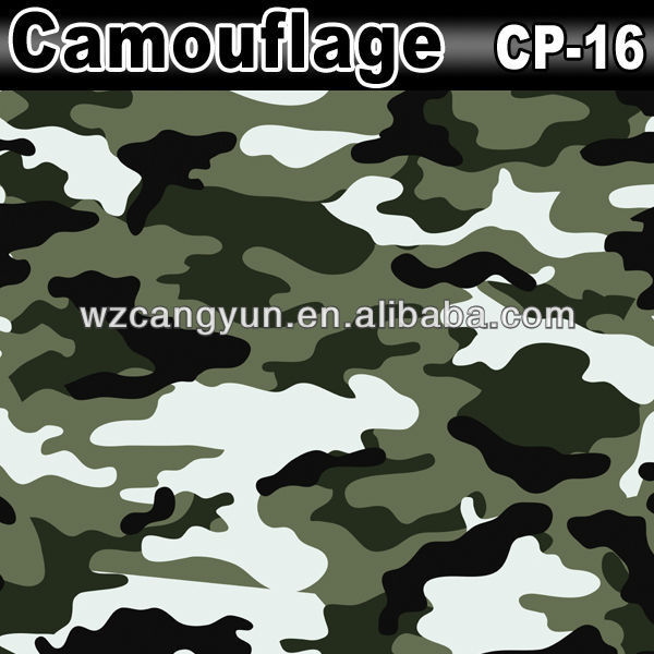Good Quality 1.52x30m Car Wrapping Vinyl Roll Camouflage Paper