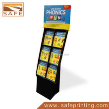 Newly Supermarket Paper Cardboard Display Stand Unit for Children book /Corrugated Cardboard Floor Display Racks for Children