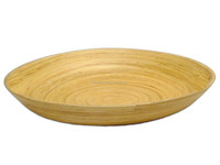 Round Bamboo Plates for salad with eco - friendly non- toxic high quality