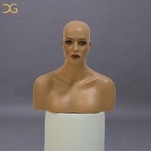 beautiful wholesale wig display life size mannequin head with shoulders