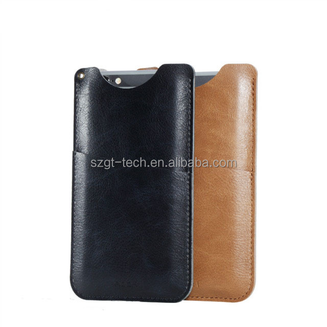 universal smart phone PU leather wallet Card Slot Pull Tab Sleeve storage pouch bag for iPhone 6 6s 7