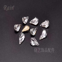 Rain brand drop of glass stone jewelry accessories parts accessories for jewelry garment clothes show nail arts decoration