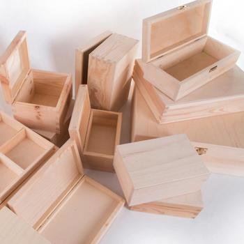 various size and shape pine wood gift custom wood box wholesale