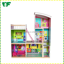 Christmas gift wooden DIY children's toy kitchens and doll houses